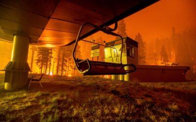 Threat remains to Tahoe ski resorts as Caldor Fire burns in Tahoe Basin